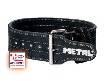 Picture of Metal Single Prong Powerlifting Belt Stiff Black- IPF Approved