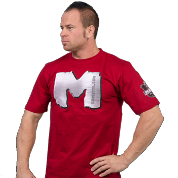 Picture of Metal Powerlifting T Shirt Red