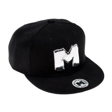 "Picture of METAL ""M"" Powerlifting Snap Back Cap"
