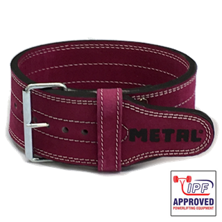 Picture of Metal Single Prong Powerlifting Belt Supple Fuchsia - IPF Approved