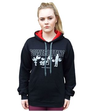 Picture of Powerlifting Hoodie Black