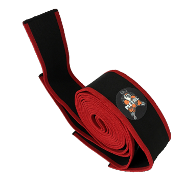 Picture of Metal Knee Wraps Black N Red