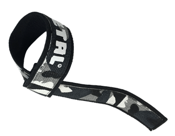 Picture of Metal Lifting Straps Black n Grey Camo 2 ply