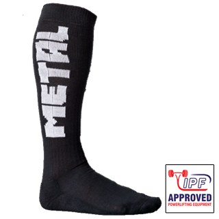 Picture of Metal Deadlift Socks Black IPF Approved