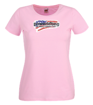 Picture of Metal Ladies Fit Powerlifting T Shirt