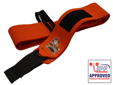 Picture of Metal Wrist Wraps Orange IPF Approved