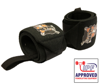 Picture of Metal Wrist Wraps Black IPF Approved
