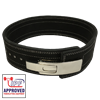 Picture of Metal Lever Powerlifting Belt Black- IPF Approved